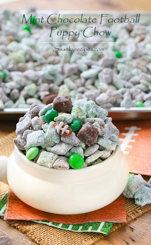 Mint Chocolate Football Puppy Chow