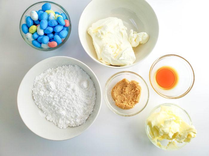 ingredients for cookie dip