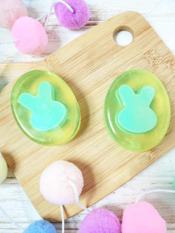 easter soap with bunnies