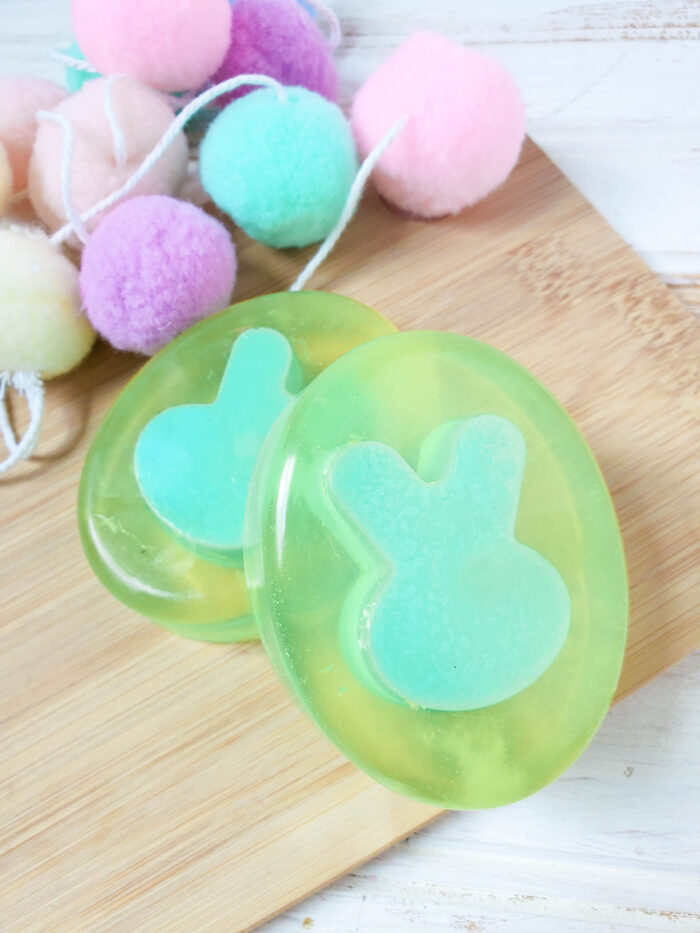 Lilac Scented Layered Bunny Soap