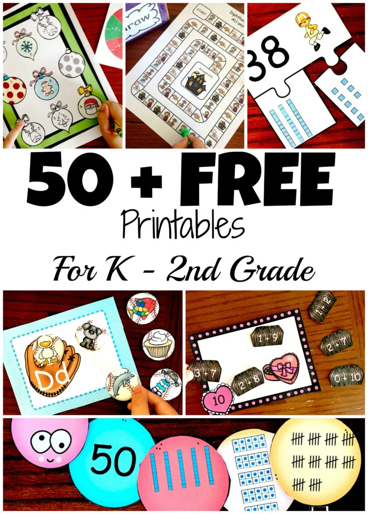 Free Printables for K - 2